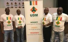 Former firebrand EFF Member of Parliament Sipho Mbatha (second right) has joined UDM. Picture: @bantu.holomisa/Facebook.com.