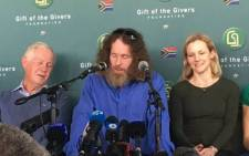 Stephen McGown addresses the media at a press conference a week after he was released from over 5 years of captivity in Mali on Thursday 10 August 2017. Picture: Hitekani Mgawedze/EWN