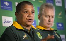 Springbok coach Allister Coetzee addresses journalists in PE on 23 June 2016 after announcing the squad to face Ireland in the final test of the series. Picture: Aletta Harrison/EWN.