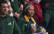 A disappointed Springbok fan looks on, following South Africa's 20-18 defeat to New Zealand. Picture: Vumani Mkhize/EWN.