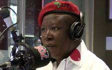 Julius Malema on Talk Radio 702.  Picture: Christa van der Walt/EWN.