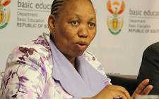 Basic Education Minister Angie Motshekga. Picture: Tshepo Lesole/Eyewitness News