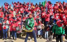 FILE: Nehawu members gather at the Montshioa Stadium in Mahikeng ahead of a protest march on 16 May 2018. Picture: EWN