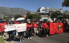 City of Cape Town firefighters on 26 September 2019 protest in the CBD to demand overtime pay. Picture: Kaylynn Palm/EWN.