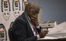 Former SABC COO Hlaudi Motsoeneng at state capture commission on 10 September 10, 2019. Picture: Abigail Javier/EWN.