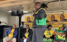 President Cyril Ramaphosa on campaign trail in Qwaqwa, Free State, on 6 April 2019. Picture: @MYANC/Twitter