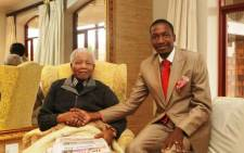 Prophet Uebert Angel with former president Nelson Mandela. Picture: Facebook.