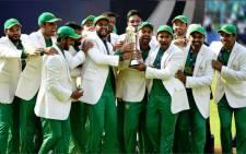 The triumphant Pakistani team. Picture: Twitter/@ICC