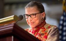FILE: US Supreme Court Justice Ruth Bader Ginsburg is said to be 'resting comfortably' after being admitted to Johns Hopkins Hospital in Baltimore early Tuesday. Picture: AFP