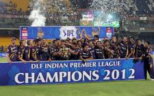 Kolkata Knight Riders won the 2012 IPL Tournament. Picture: AFP