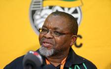 ANC Secretary General Gwede Mantashe addresses the media at the party's NGC in Midrand on 9 October 2015. Picture: Reinart Toerien/EWN