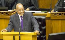 FILE: President Jacob Zuma answers questions in Parliament on the 11 March 2015. Picture: Thomas Holder/EWN.