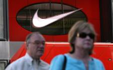 Nike, known for its distinctive 'swoosh' or tick logo, gets more than half of its total revenue from North America and Western Europe. Picture: AFP.