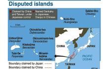 A graphic showing the disputed Senkaku/Diaoyu islands between Japan and China. Picture: AFP.