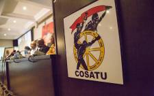 FILE: Cosatu's top brass addresses the media at Cosatu House in Braamfontein on the trade union federation's call  on 4 April 2017 for President Jacob Zuma to step down. Picture: EWN