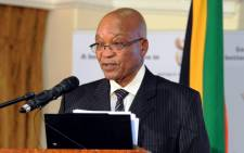 Jacob Zuma told Parliament there can be no military solution to tensions in Gaza. Picture: GCIS.