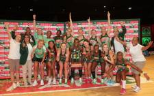 The Proteas Netball side celebrate their Test series clean sweep over Malawi on 29 November 2020. Picture: @Netball_SA/Twitter