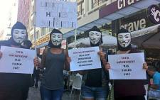 FILE: People take part in the masked march in Cape Town against corruption and social ills. Picture: Graeme Raubenheimer/EWN.