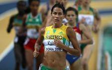South African Olympics Athlete Rene Kalmer. Picture: AFP.
