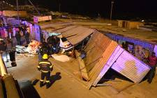 Three people were killed when a car crashed through a spaza shop in Khayelitsha. Picture: Supplied