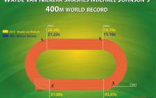 EWn takes a look at how Wayde van Niekerk's time compared to Michael Johnson's in 1999 as van Niekerk broke the world record and took gold at the 2016 Olympic games.  Picture: EWN
