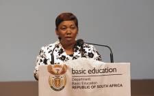 Basic Education Minister Angie Motshekga. Picture: Reinart Toerien/EWN.