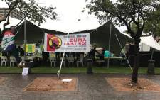 Civil society groups gearing up for #ZumaMustFall march at Church Square in the capital city of Pretoria. Picture: Kgothatso Mogale/EWN