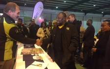 Deputy President Cyril Ramaphosa on a walkabout at the exhibition center during ANC's national policy conference on 2 July 2017. Picture: Gia Nicolaides/EWN.