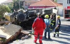 A tipper truck crashed into house in Gardens on 12 August 2012. Picture: Supplied.