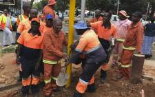 Joburg mayor Herman Mashaba launches No joint traffic light campaign. picture:Kgothatso Mogale/EWN