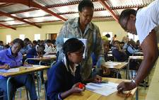 FILE: Teachers prepare for matric exams at Moletsane High School in Soweto. Picture: EWN