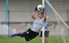 Banyana Banyana goalkeeper Kaylin Swart during a training session ahead of the semifinal against Mali. Picture: @Banyana_Banyana/Twitter