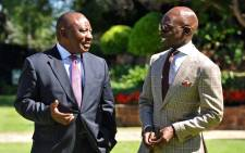This file photo taken on 18 April 2017 shows Finance Minister Malusi Gigaba and Cyril Ramaphosa. Picture: GCIS.