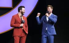 'Avengers' actors Chris Evans and Chris Hemsworth. Picture: @marvelstudios/Facebook.com.