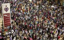 Sudanese protesters march in a mass demonstration against the country's ruling generals in the capital Khartoum's twin city of Omdurman on 30 June 2019. Picture: AFP