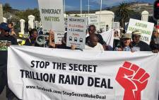 Several protesters took to the streets in Cape Town in protest against government's nuclear build programme on 22 February 2017. Picture: Xolani Koyana/EWN.
