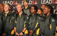 Members of Team SA's olympic team at the send off at OR Tambo International Airport. Picture: Taurai Maduna/EWN