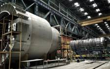 What a visit to the factory shows is the scale of the production. The reactor vessels weigh around 800 tons once built and fitted with components.  Picture:  Alex Eliseev/EWN