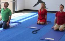 London Airport offers yoga classes. Picture: CNN/ screengrab