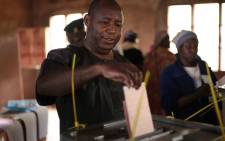 FILE: Evariste Ndayishimiye casts his ballot during the presidential and general elections at the Bubu Primary school in Giheta, central Burundi, on 20 May 2020. Picture: AFP