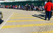 People wait in line to get their COVID-19 vaccination at the Witkoppen Clinic in Fourways on 27 July 2021. Picture: @GautengHealth/Twitter