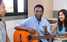 In a special video released on 5 December 2014, Pele says he's doing well and thanked fans for their support.