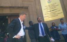 Gareth Cliff and his legal team will now study the judgement before having a press briefing on 30 January, 2016. Picture: Dineo Bendile/EWN.