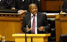 Deputy President David Mabuza responding to oral questions in the National Assembly in Cape Town on 17 October 2019. Picture: @DDMabuza/Twitter