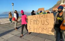 Homeless Muizenberg protesters. Image: EWN