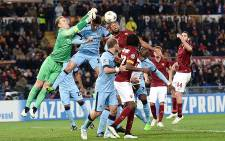 Manchester City keeper and captain Joe Hart goes for the ball during his team's final Champions League group match against AS Roma on 10 December 2014. City won 2-0. Picture: AS Roma on Facebook.