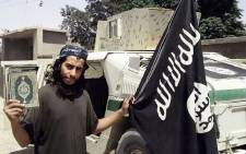 An undated picture taken from the February 2015 issue 7 of the Islamic State (IS) group online English-language magazine Dabiq, purportedly shows 27-year-old Belgian IS group leading militant Abdelhamid Abaaoud, also known as Abu Umar al-Baljiki, believed to be the mastermind of the Paris attacks. Picture: AFP/HO/Dabiq.