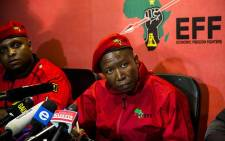 EFF leader Julius Malema briefs the media on 8 March 2018. Picture: Kayleen Morgan/EWN