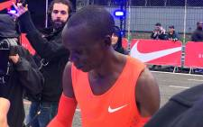Eliud Kipchoge ran the quickest recorded marathon. Picture: Twitter.