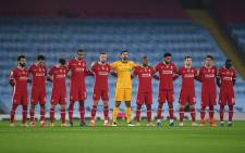 Liverpool's players during the English Premier League football match between Manchester City and Liverpool at the Etihad Stadium in Manchester, north west England, on 8 November 2020. Picture: @LFC/Twitter
